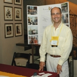 Laurent at the Laurent Tours booth...at the Educational Theatre Association Conference Theatre Expo at the famed Gershwin Theatre
