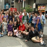 The Euclid Middle School visits Times Square