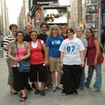The Garden City HS visits Times Square