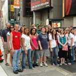 Union High School visits Times Square