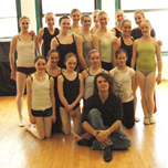 The VYBC with the instructor of their ballet class