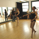 The VYBC in the studio during a ballet class