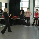 The VYBC in the studio during a class